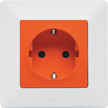 2x2P+E socket with automatic terminals - german standard